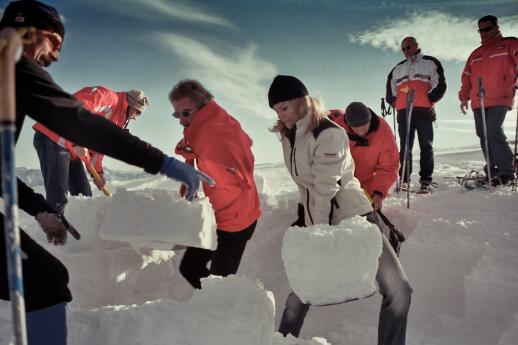 """""""Built an Igloo"""", Client: Baumax, Location: Dachstein Glacier"""