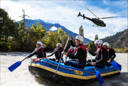 """Helicopter Rafting"", Client: The Royal Bank of Scotland Location: Nationalpark Gesäuse"