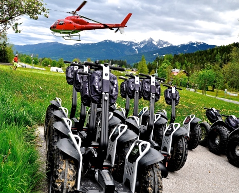 """Helicopter & Segway"", Client: s.Oliver, Location: Ramsau am Dachstein"