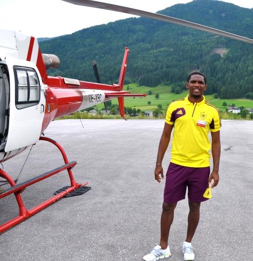 """VIP Heli Shuttle"", Client: Samuel Eto'o, Location: Airport Salzburg, Hotel Schloss Pichlarn"