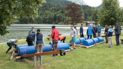 """Build a Raft"", Client: HFT, Location: Grundlsee"