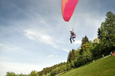 """Try to Paragliding"", Client: RZB, Location: Moosheim"