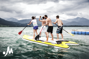 """Stand up Paddling, Monster SUP, Teamevent"" Client: Infront Austria, Location: Wolfgangsee"
