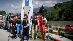"""Stand up Paddling - Teamevent"" Client: ÖSV Snowboard Team Austria, Location: Enns"