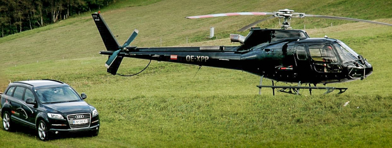 """VIP Heli Transfer"", Special Booking, Location: Schloss Fuschl"