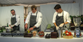 """""""Live Cooking Show with Sarah Wiener"""", Client: Columbus, Location: Salzburg, Schloss Mönchstein"""