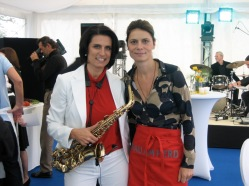 """Live Cooking Show with Sarah Wiener"", Client: Columbus, Location: Salzburg, Schloss Mönchstein"
