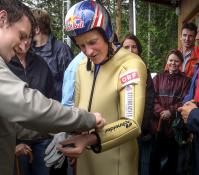 """Skijump Presentation with Andi Goldberger"", Client: Columbus, Location: Ramsau am Dachstein"