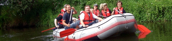 """Dinghy ride"", Client: GEO Events, Location: Enns"