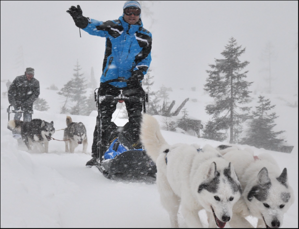 """In the footstep of a Musher"", Client: Kleins Reiseservice, Location: Tauplitzalm"