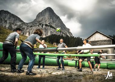 """""""XXL Wuzzler Alpine Event"""", Client: Spirodom, Location: Klinkenhütte, Gesäuse"""
